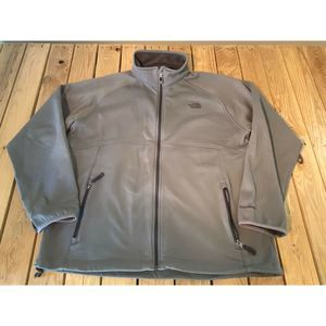 The North Face Men's Gray Full Zip Jacket Size XXL